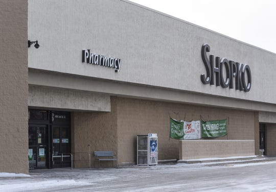 The west-side Shopko pharmacy entrance is pictured Tuesday, Jan. 29.