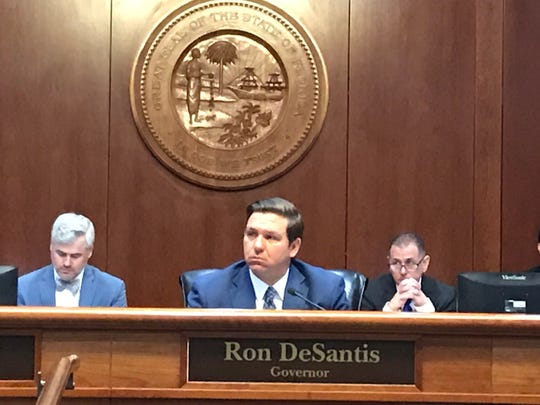 Gov. Ron DeSantis meets with the State Board of Administration on Jan. 29.