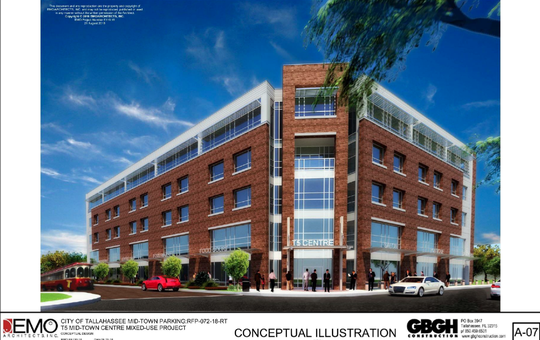 A 312-space, five-story garage is being proposed at Fifth Avenue and Thomasville Road in Midtown.
