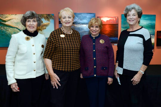 "Nancy McEllone, left, Gloria Platt, Barbara Rizzo and Bunnie Perugini at Atlantic Classical Orchestra's Masterworks I program, ""Romance & Revolution,"" at Eissey Campus Theatre at Palm Beach State College."