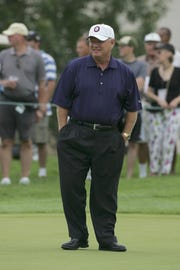 Hollis Cavner, seen at the 3M Championship in Blaine, Minnesota in 2007. Cavner helped Boca Raton retain a PGA Tour Champions event for the next three years.