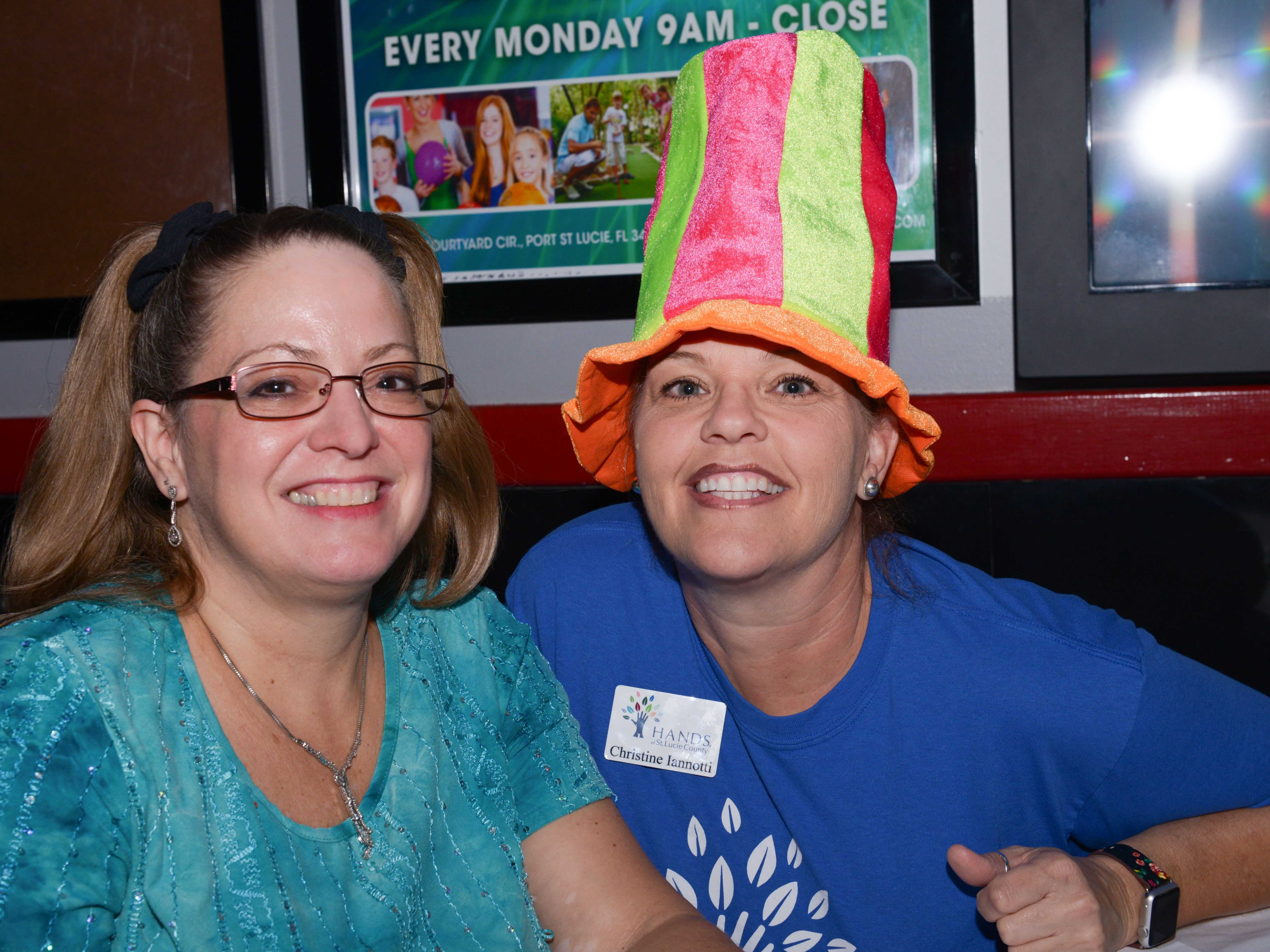 Tammy Crandell and Christine Iannotti at the Cosmic Family Fun event  to support HANDSof St. Lucie County.