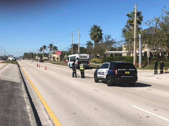 U.S. 1 closed after incident on bus