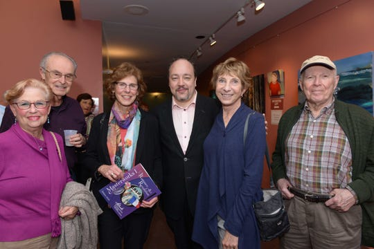 "Judiie and Aurin Primack, left, Pat Davidson, Composer Robert Paterson, Paula Davis and Burt Davidson at Atlantic Classical Orchestra's Masterworks I program, ""Romance & Revolution,"" at Eissey Campus Theatre at Palm Beach State College."