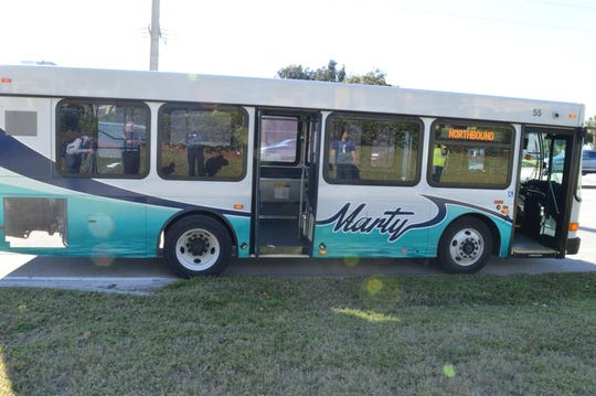 A Hobe Sound man threatened to blow up a bus Tuesday afternoon