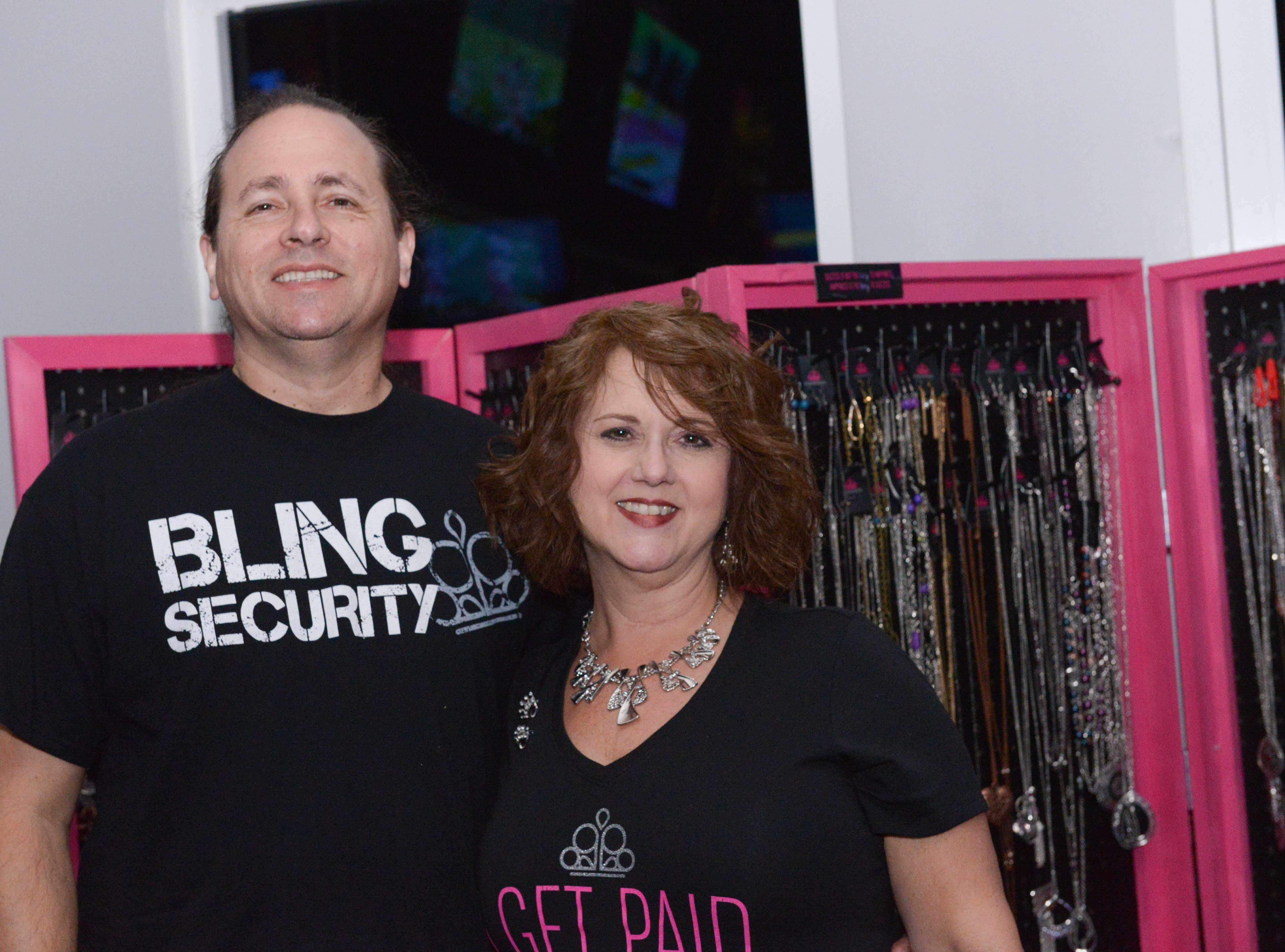 Dan Pollack and Melissa Mathews, of Paparazzi, at the Cosmic Family Fun event  to support HANDSof St. Lucie County.