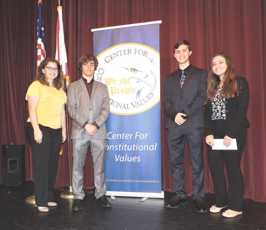 South Fork High School: Team members Abby Gordon, left, and Dylan Dalal with team members Jeremy Ortmann and Nicole Daly.