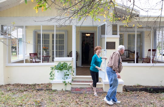 """Most people nowadays tear down everything that's old. We can't let our history die out. We have to preserve it so the younger generation can know what life was like here,"" said Fellsmere mayor, Joel Tyson (right), who leaves an open house at the Frank and Stella Heiser House with Dot Judah, of Sebastian, on Saturday, Jan. 26, 2019, in Fellsmere."