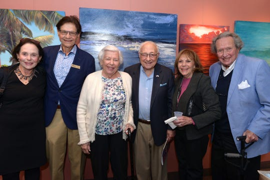 """Doreen and Gilbert Bassin, left, Tamar and Milton Maltz and Adele and Lloyd Roberts at Atlantic Classical Orchestra's Masterworks I program, """"Romance & Revolution,"""" at Eissey Campus Theatre at Palm Beach State College."""