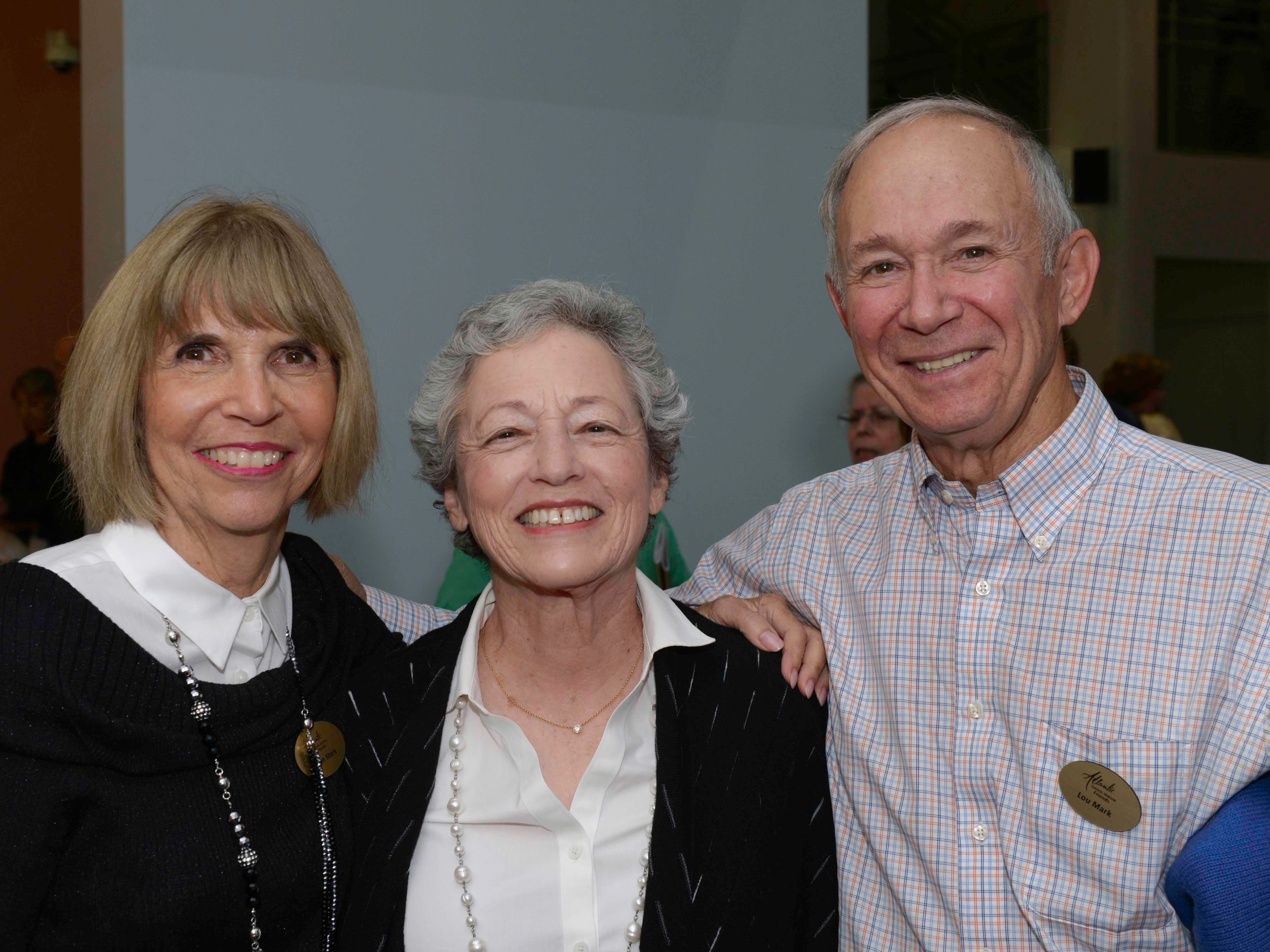 "Susan Mark, left, Madeline Baer and Lou Mark, president of the Palm Beach Friends of the Atlantic Classical Orchestra, at the Masterworks I program, ""Romance & Revolution,"" at Eissey Campus Theatre at Palm Beach State College."