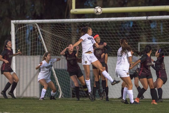 Peyton Erickson and the Ventura High girls soccer team received a first-round bye in the Division 3 playoffs.