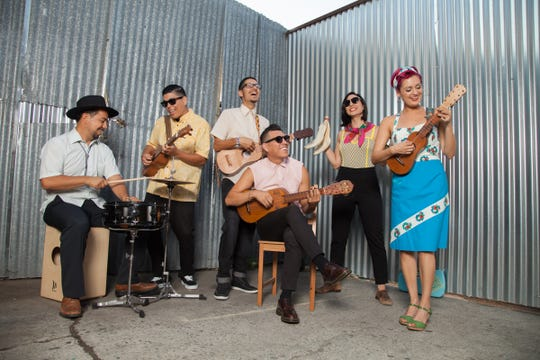 Las Cafeteras will perform at the Oxnard Performing Arts and Convention Center on Feb. 1. Jose Cano, far left, hails from Oxnard.