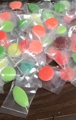 Marijuana candy seized by Franklin Township police in Jan. 22 drug arrest.
