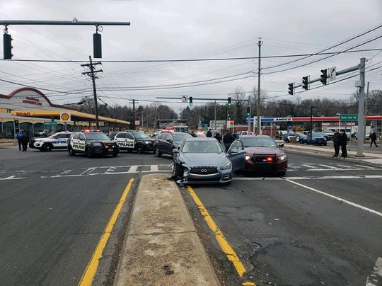 Two suspects were arrested following a police chase in Pelham Manor.