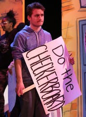 "Hasting High senior Alessandro de Novellis plays Baltimore hausfrau Edna Turnblad in ""Hairspray"" this weekend. He said staging a musical about diversity in Hastings -- which he said ""has had a huge issue with diversity"" -- ""a wonderful thing."""