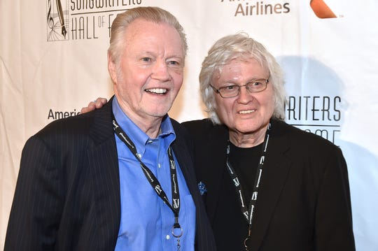 NEW YORK, NY - JUNE 09:  Jon Voight (L) and brother Chip Taylor attend Songwriters Hall Of Fame 47th Annual Induction And Awards at Marriott Marquis Hotel on June 9, 2016 in New York City. The brothers are Yonkers natives and all graduated from Archbishop Stepinac High School in White Plains.