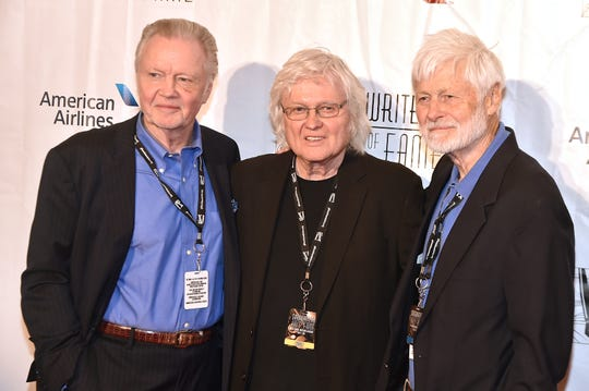 (L-R) Jon Voight, Chip Taylor and Barry Voight attend Songwriters Hall Of Fame 47th Annual Induction And Awards at Marriott Marquis Hotel on June 9, 2016 in New York City.  The brothers are Yonkers natives and all graduated from Archbishop Stepinac High School in White Plains.