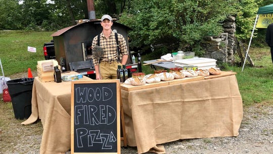 Chase Fox Harnett and his pizza truck. The 23-year-old from Rockland makes his pizza using only local ingredients.