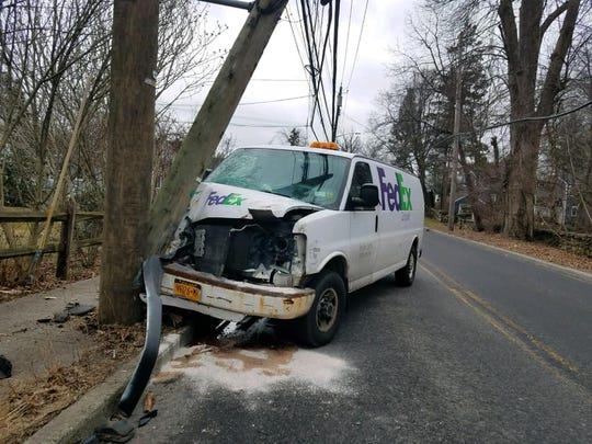 The driver suffered non life-threatening injuries, according to Rye Brook police.