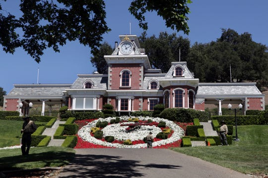 On July 2, 2009, the train station at Neverland Ranch in Los Olivos, Calif. Michael Jackson's former home was renamed Sycamore Valley Ranch and put up for sale in 2017.