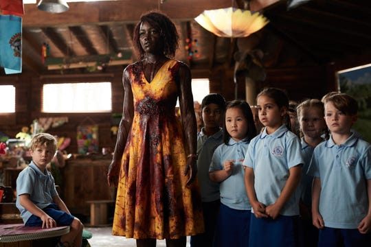 "Kindergarten teacher Miss Caroline (Lupita Nyong'o) protects her students from a zombie apocalypse in horror comedy ""Little Monsters."""