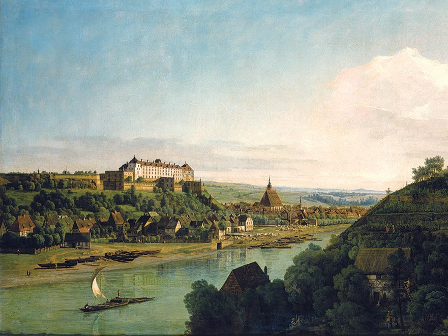 Artist Bernardo Bellotto grew famous for his large-scale paintings of Dresden completed in the 18th century, when he was the court painter for the elector of Saxony, Frederick Augustus II.
