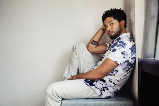 "Actor-singer Jussie Smollett, from the Fox series, ""Empire,"" March 6, 2018, in New York."