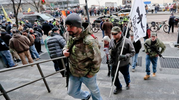 Gun owners protest in Pittsburgh earlier this...
