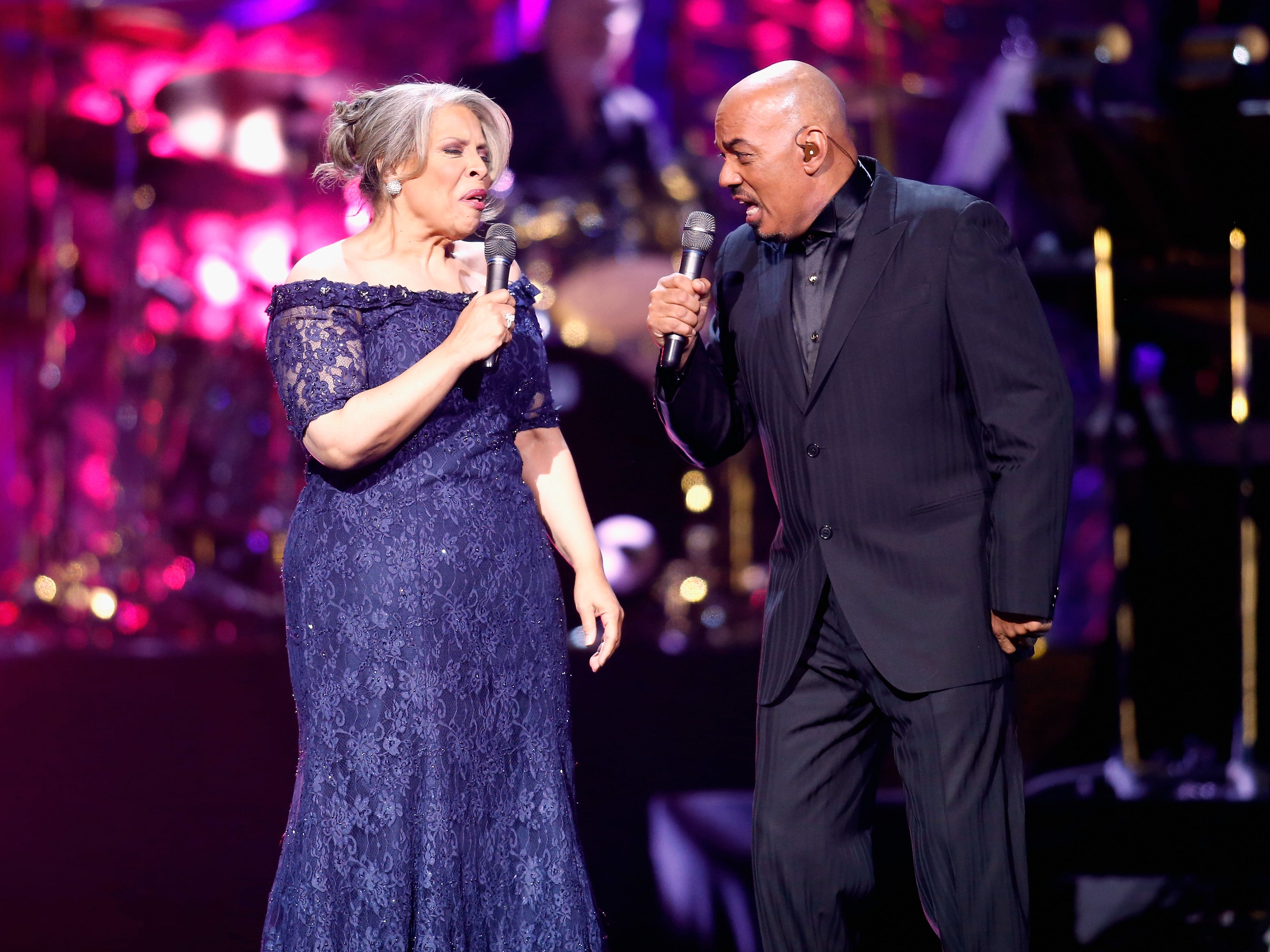 """Recording artists Patti Austin and James Ingram perform during the 17th annual Keep Memory Alive """"Power of Love Gala"""" benefit in Las Vegas, April 13, 2013."""