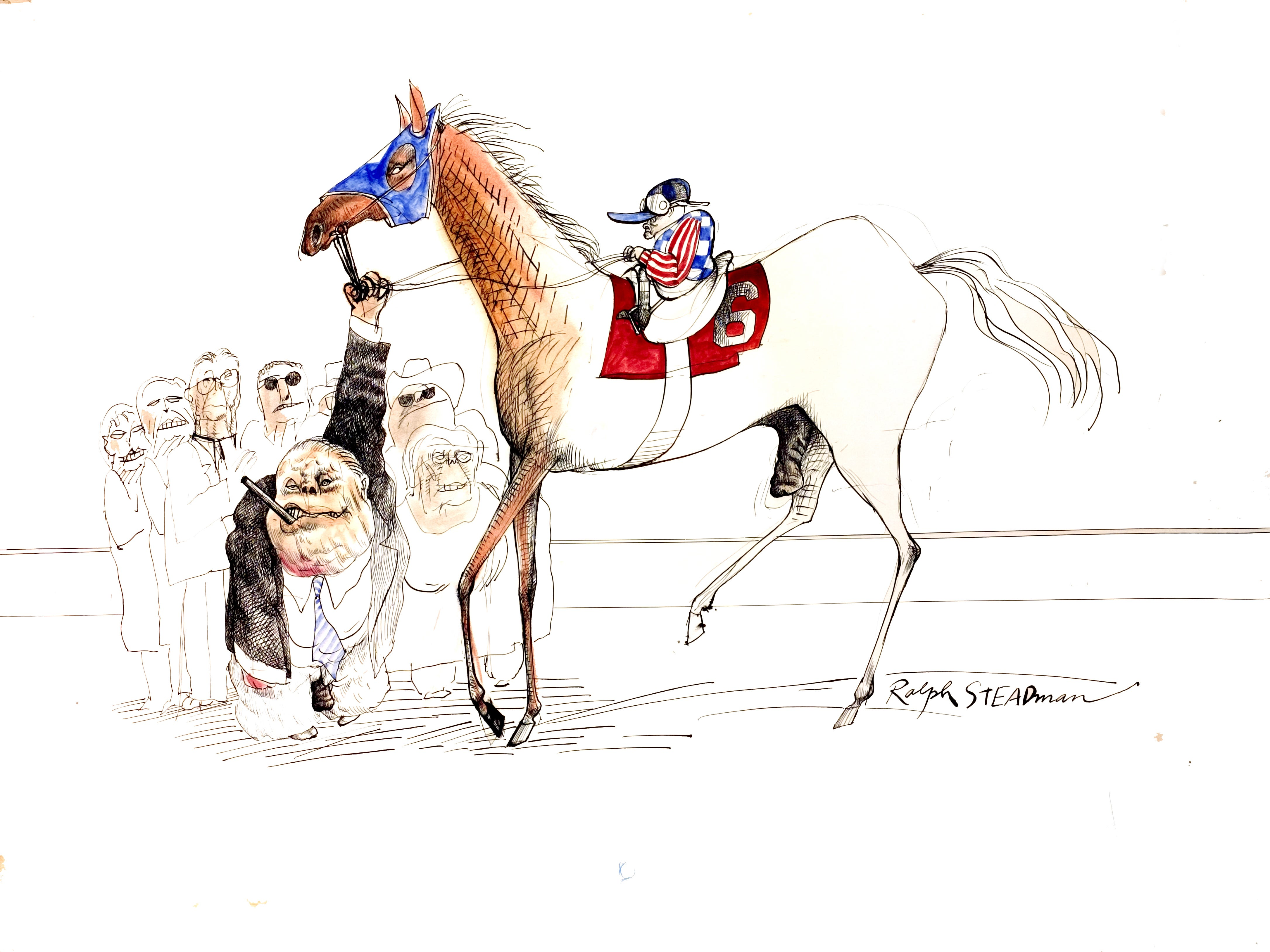 """Ralph Steadman's """"The Kentucky Derby is Decadent and Depraved."""""""