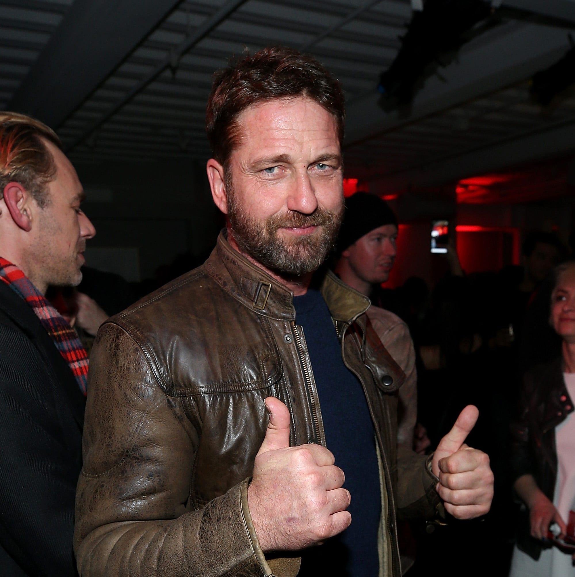 Gerard Butler made an appearance at NASA Wallops rocket launch