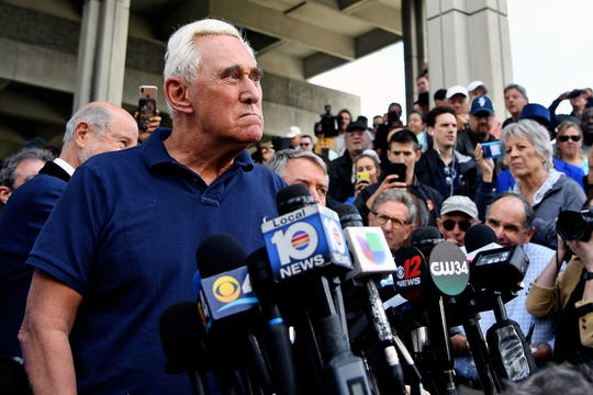 Roger Stone in Fort Lauderdale, Florida, on Jan. 25, 2019.