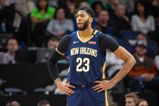 New Orleans Pelicans forward Anthony Davis.