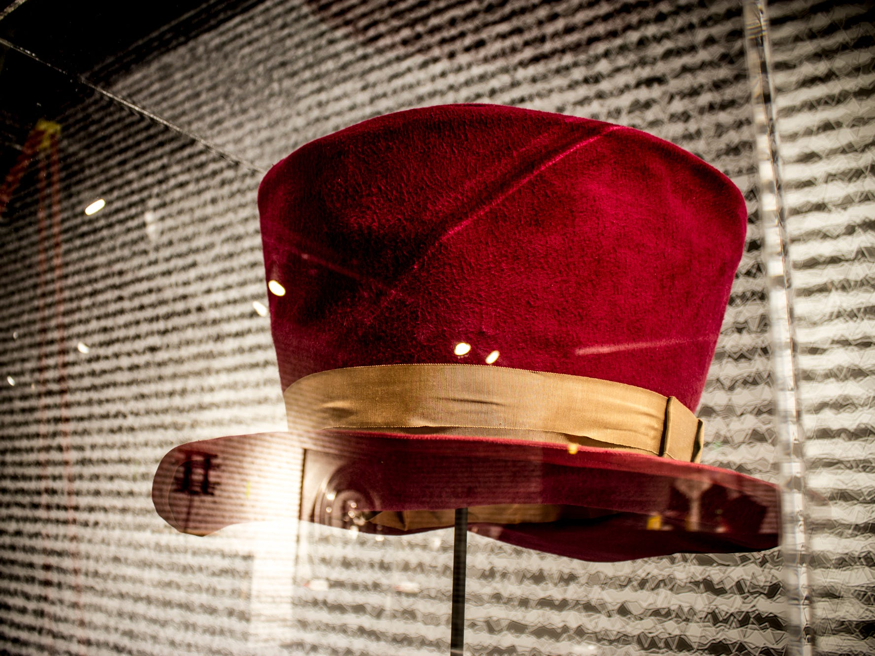 """Part of the """"Stay Tuned: Rock on TV"""" exhibit at the Rock & Roll Hall of Fame, this hat was worn by Tom Petty in the video """"Don't Come Around Here No More,"""" inspired by the children's fantasy novel, """"Alice in Wonderland."""""""