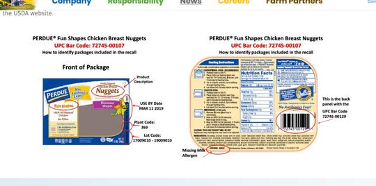 Perdue Foods is recalling more than 16,000 pounds of chicken nuggets because of an undeclared allergen.