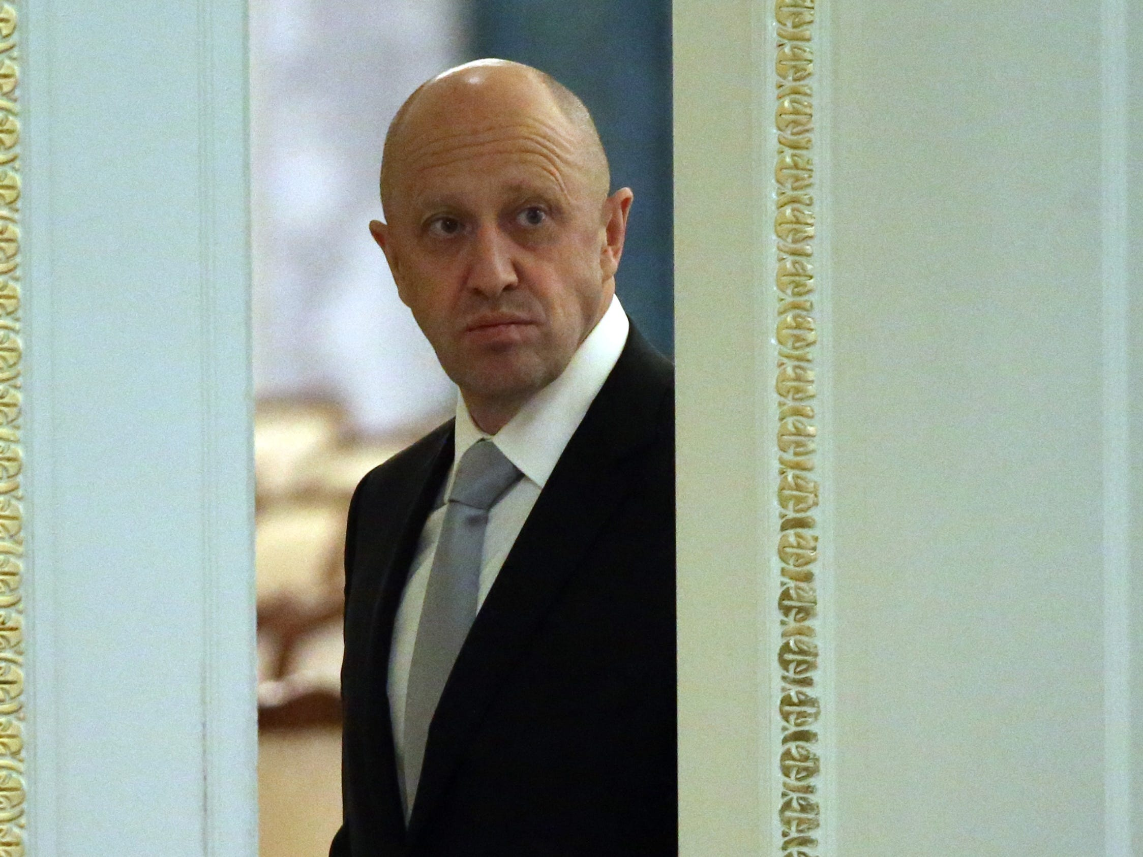 SAINT PETERSBURG, RUSSIA - AUGUST 9:  (RUSSIA OUT)  Russian billionaire and businessman Yevgeniy Prigozhin attends Russian-Turkish talks in Konstantin Palace in Strenla on August,9, 2016 in  Saint Petersburg, Russia. President of Turkey is having a one-day visit to Putin's hometown. (Photo by Mikhail Svetlov/Getty Images) ORG XMIT: 660445815 [Via MerlinFTP Drop]