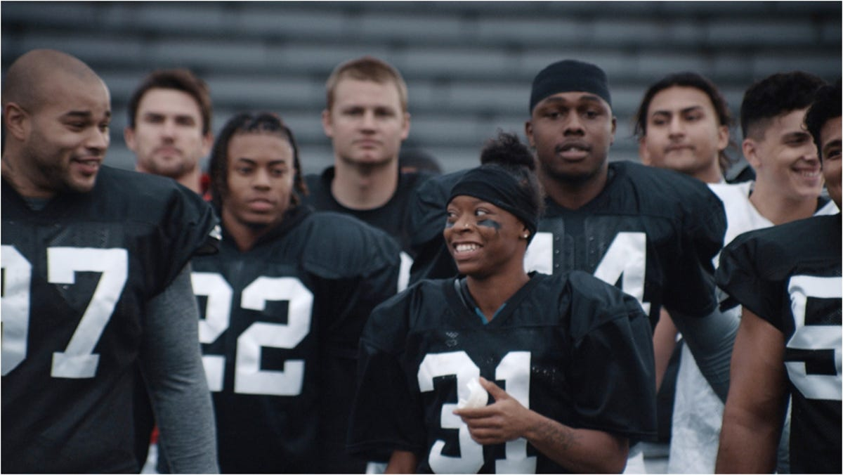 de9ed064 Super Bowl advertising: Female athlete dreams of making NFL in Toyota ad