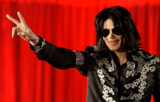 Michael Jackson on March 5, 2009,  at a press conference at the London O2 Arena.