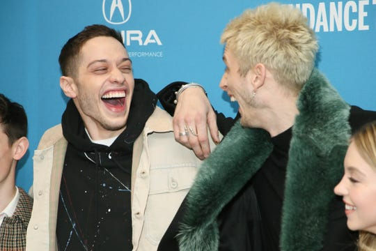 """""""Big Time Adolescence"""" star/producer Pete Davidson, left, with his friend and co-star, rapper Machine Gun Kelly."""