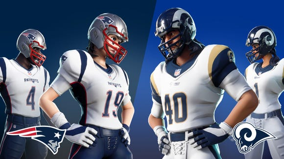 Fortnite  kicks off Super Bowl weekend with return of NFL outfits 445683a272d7
