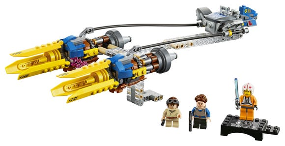 It's a curious thing that Luke Skywalker comes as the collectible with Anakin's Podracer. But just enjoy it.
