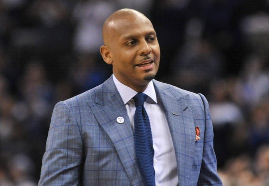 Memphis Tigers head coach Penny Hardaway during the first half against the Southern Methodist Mustangs.
