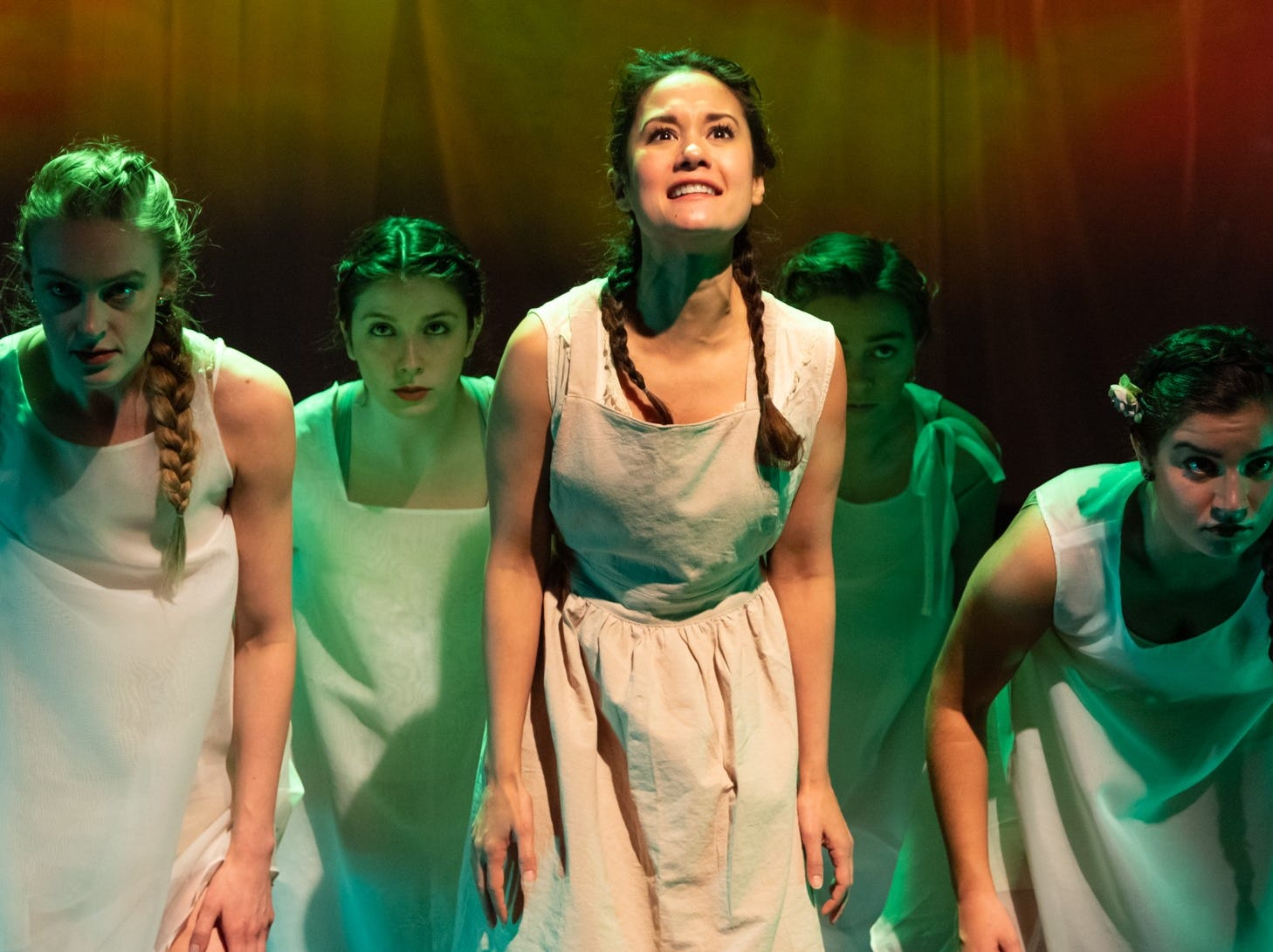 """Ali Ewoldt, center, plays multiple characters in """"Anne Of Green Gables, Part I."""""""