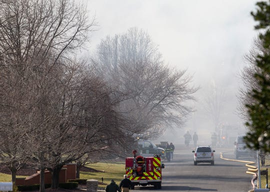 House fire at 37 Blue Hills Drive in Holmdel on Wednesday