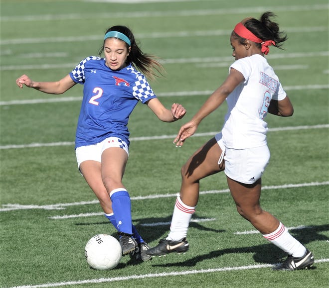 Cooper's Hayden Abor (2) scored nine goals in two games this week to earn the Local Player of the Week award. Abor scored five goals in Tuesday's 10-0 win against Wichita Falls Hirchi and added four more as the Lady Cougars beat Lubbock Estacado 6-2.