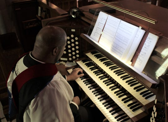 Josiah Montgomery, who serves as organist at Episcopal Church of the Heavenly Rest, said low pay is one reason few with keyboard skills want to play the organ.