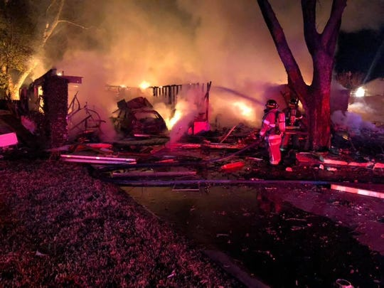 A gas leak in the attic was the cause of a house explosion in the 1400 block of Tanya Street in Sweetwater on Jan. 26, 2019.