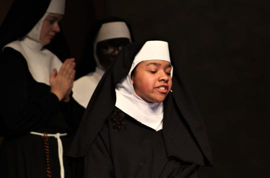 """Nalani Abdullah is the sister in """"Sister Act,"""" Cooper High School's winter musical."""