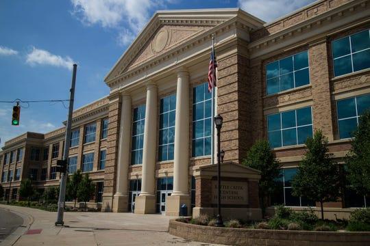 Battle Creek Central High School in downtown Battle Creek.