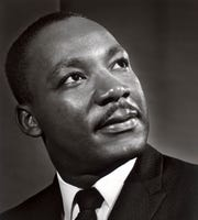 "A portrait of Martin Luther King, Jr. is featured in ""Yousuf Karsh: American Portraits."" The exhibition, from the Smithsonian's National Portrait Gallery, will be on display at the Rockwell Museum in Corning from Feb. 5-May 5."